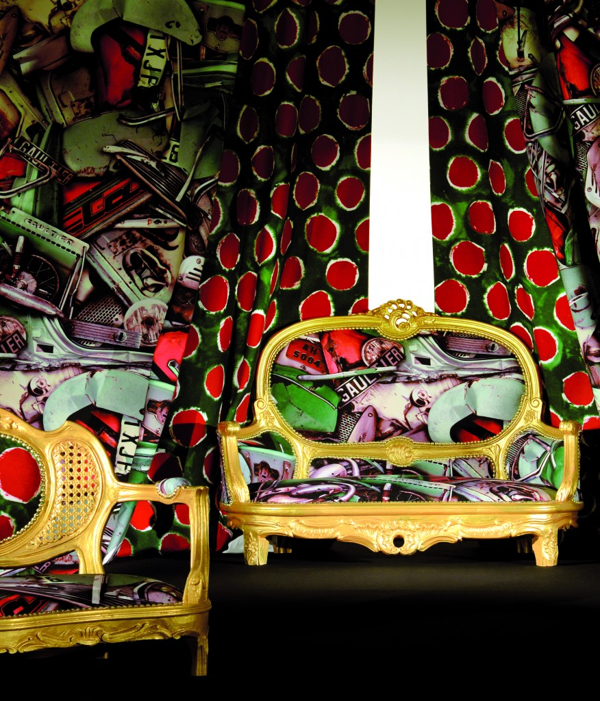 etofea jean paul gaultier tissus d ameublement haut de gamme. Black Bedroom Furniture Sets. Home Design Ideas