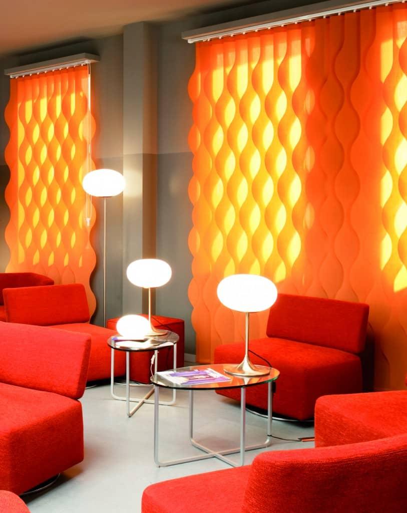 etofea bandes verticales wave rideaux sur mesure etofea. Black Bedroom Furniture Sets. Home Design Ideas