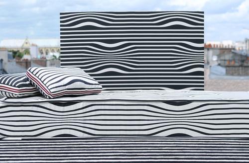 Tissu Illusion habillage intérieur,  tissus ameublement Jean Paul Gaultier