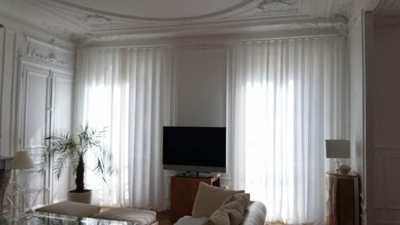rideaux sur mesure de grande hauteur