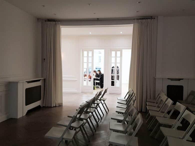 rideaux en lin cabinet d'avocat paris