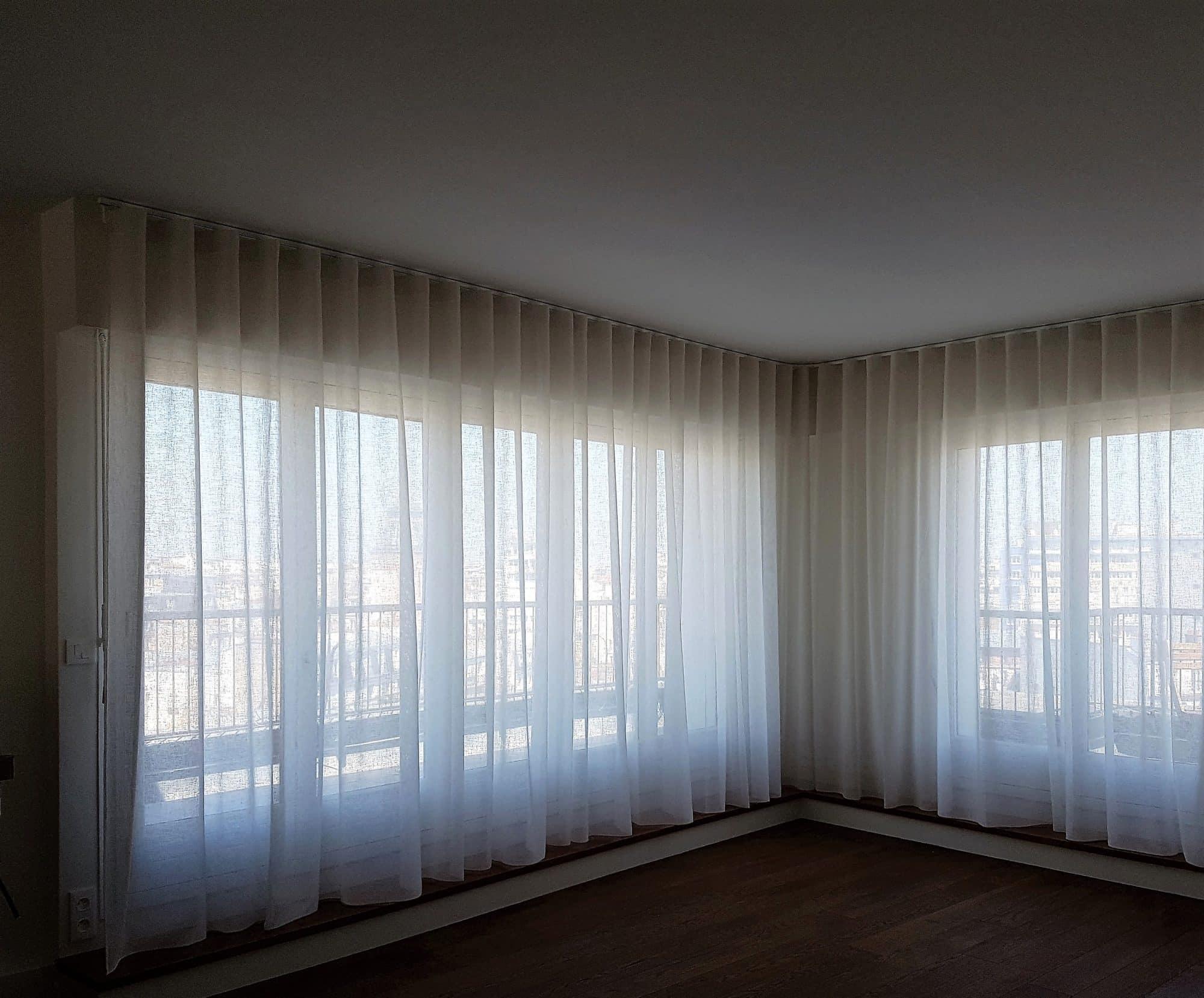 Type De Rideaux Pour Fenetre Cintrees etofea des rails cintrés pour rideaux ou séparations d'espaces