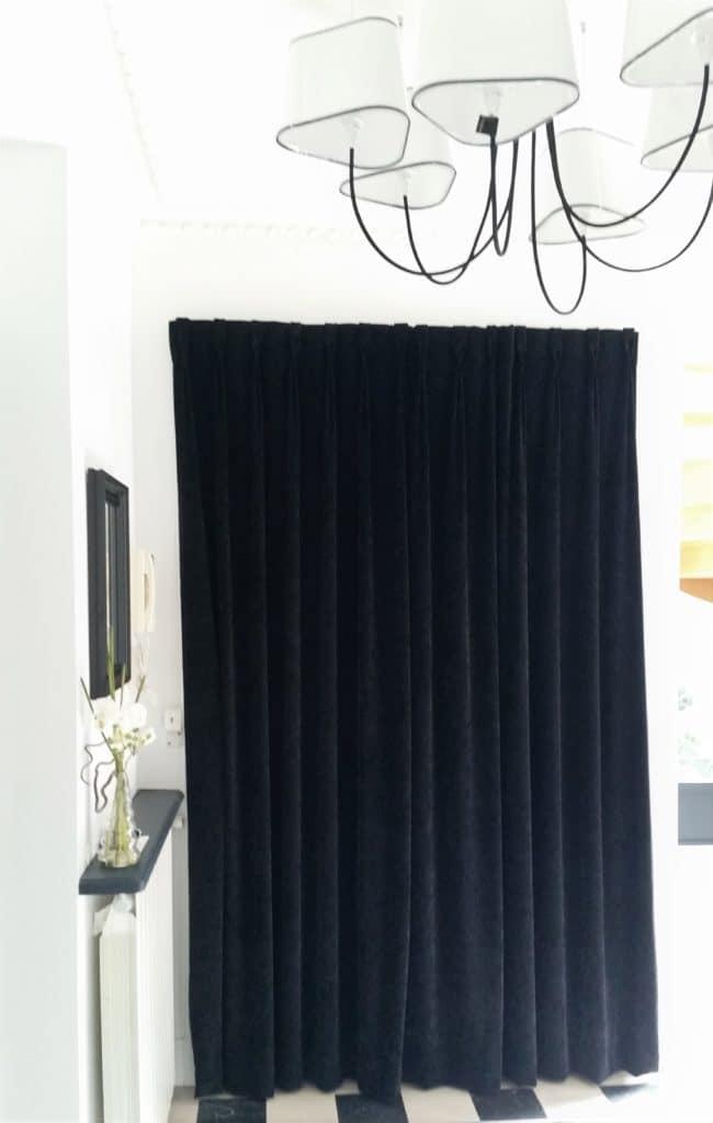 rideau acoustique porte entrée