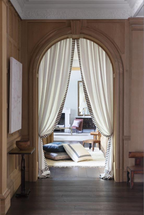 double rideau sur mesure Paris