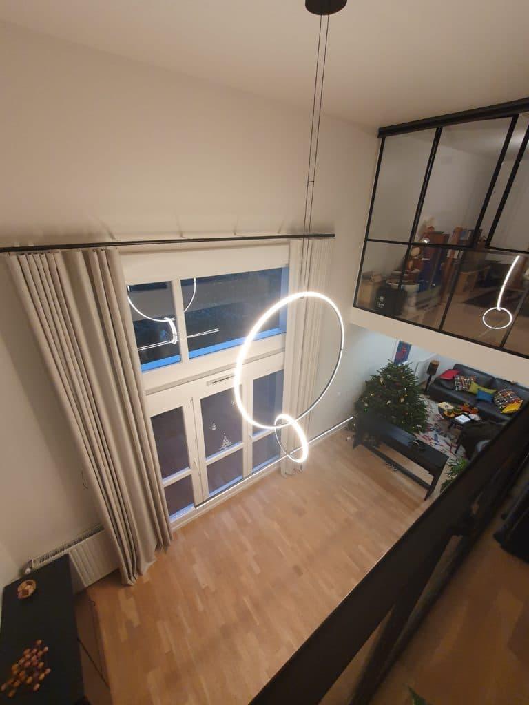rideaux grande hauteur 400