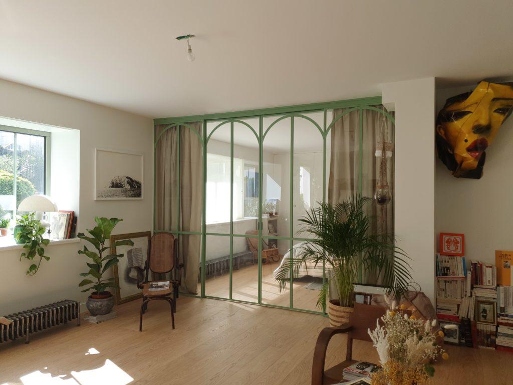 rideaux sur mesure store véranda