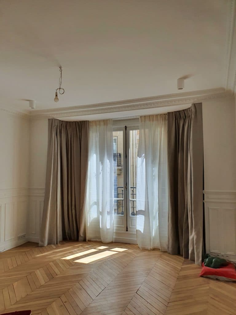 rideaux sur mesure bow window paris